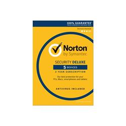 Norton Security Deluxe 3.0 - 1 User/5 Devices for 2 Years