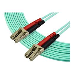 StarTech.com 7m OM4 LC Multimode Duplex Fiber Optic Patch Cable - Aqua