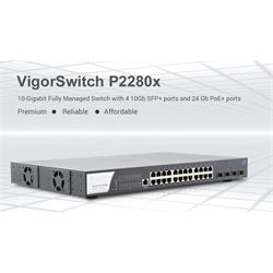 DrayTek VigorSwitch VP2280X-K Managed Gigabit Switch