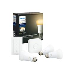 Philips Hue White Ambiance E27 Kit - Bridge, Dimmer and 3 Bulbs