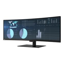 "Lenovo ThinkVision P44w-10 43.4"" 3840x1200 HDMI DisplayPort USB-C LED Monitor"