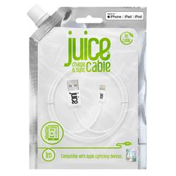 Juice 1m Lightning Charge and Sync Cable - White
