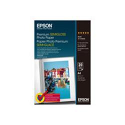 Epson Premium - semi-gloss photo paper - 20 sheets - A4